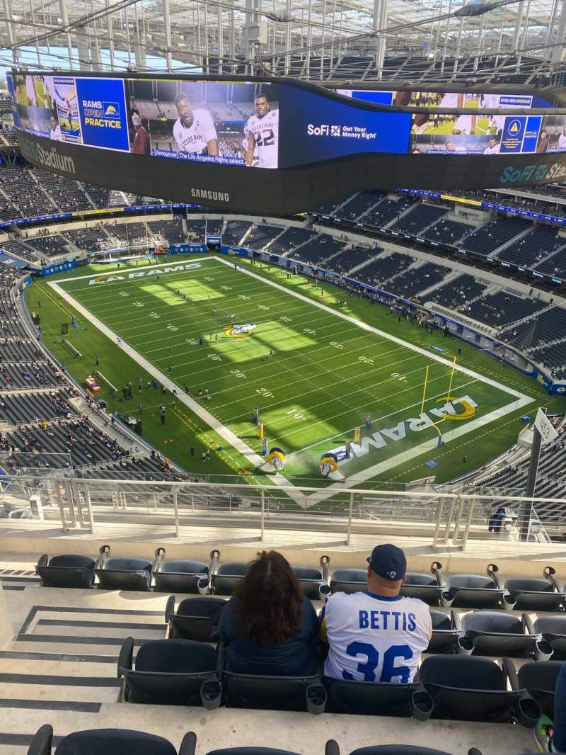Seating view for SoFi Stadium Section 550 Row 6 Seat 20