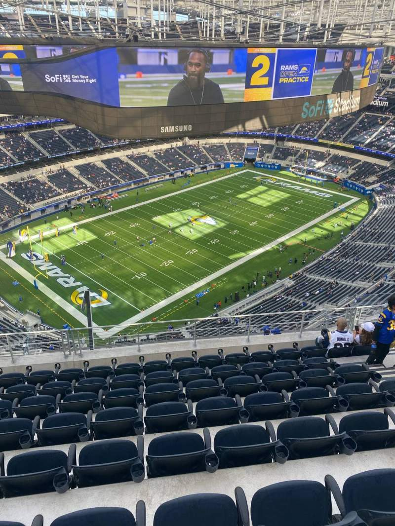Seating view for SoFi Stadium Section 506 Row 8 Seat 9