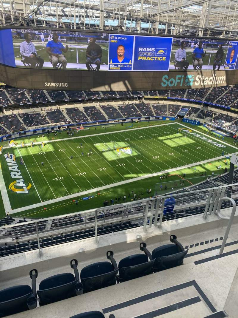 Seating view for SoFi Stadium Section 509 Row 4 Seat 5