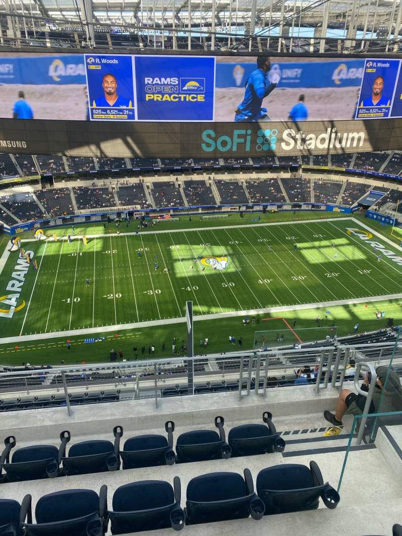 Seating view for SoFi Stadium Section 512 Row 5 Seat 12