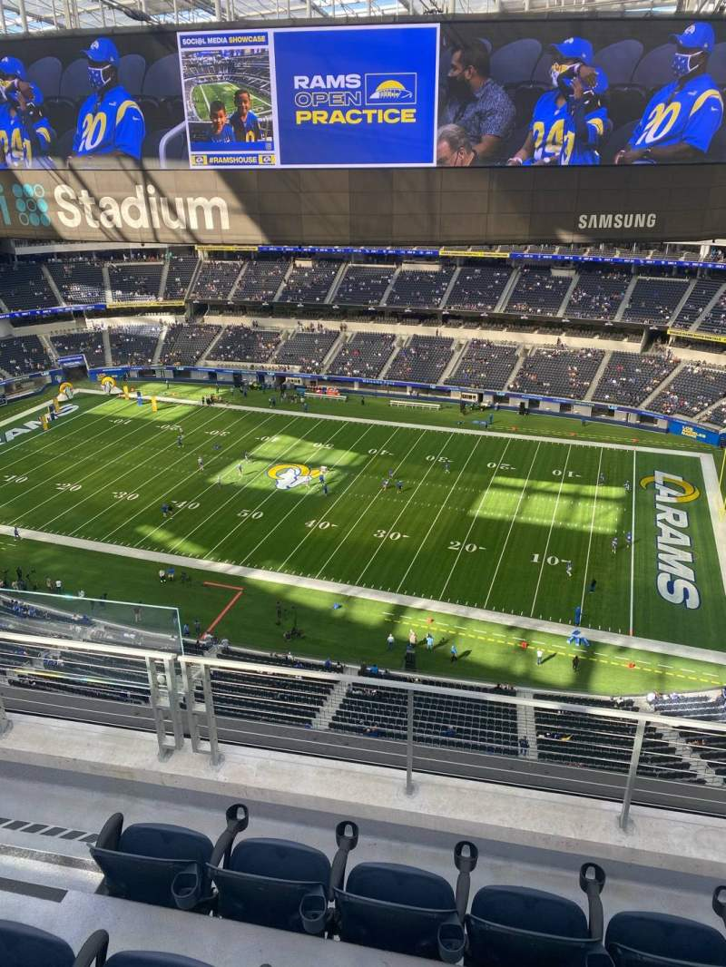 Seating view for SoFi Stadium Section 419 Row 4 Seat 22