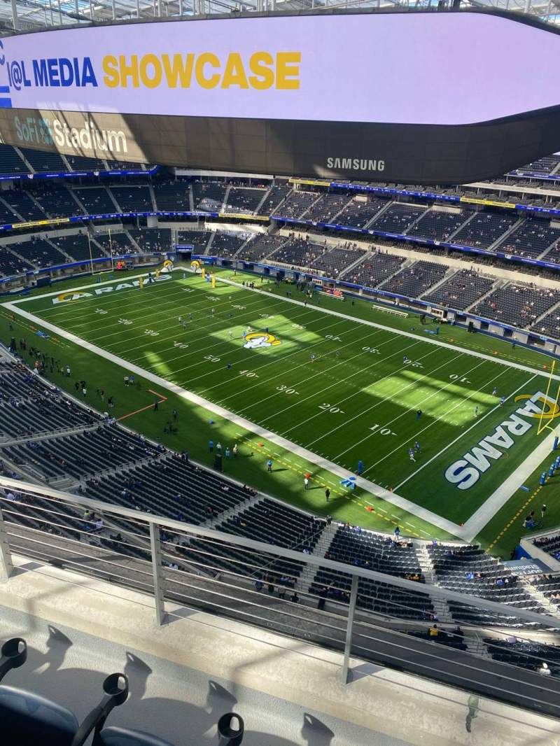 Seating view for SoFi Stadium Section 421 Row 3 Seat 3