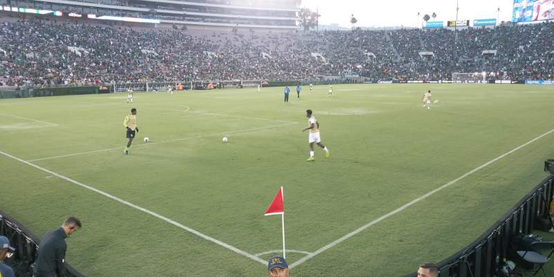 Seating view for Rose Bowl Section 1-L Row 5 Seat 1