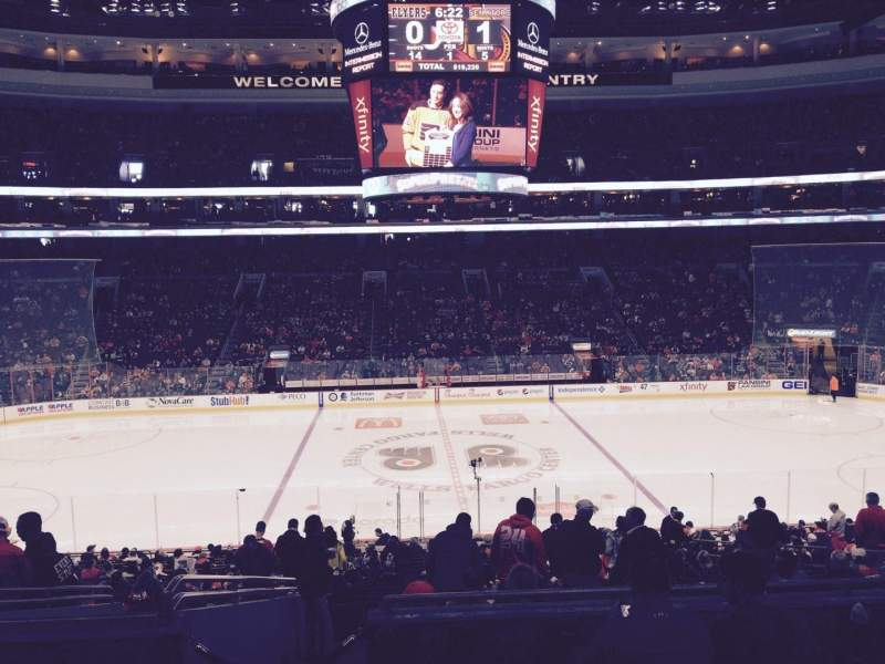 Seating view for Wells Fargo Center Section SB13 Row 5 Seat 3