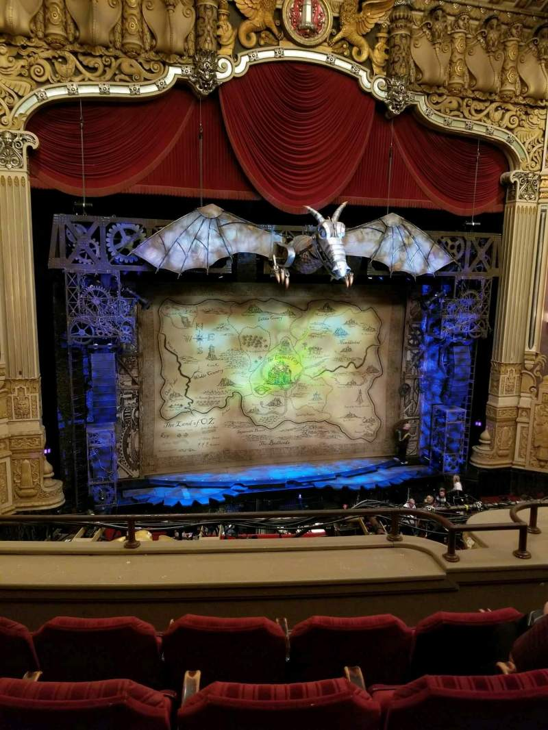 Seating view for Nederlander Theatre (Chicago) Section LOGE LC Row D Seat 330