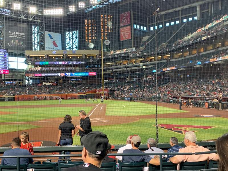Seating view for Chase Field Section L Row F Seat 9