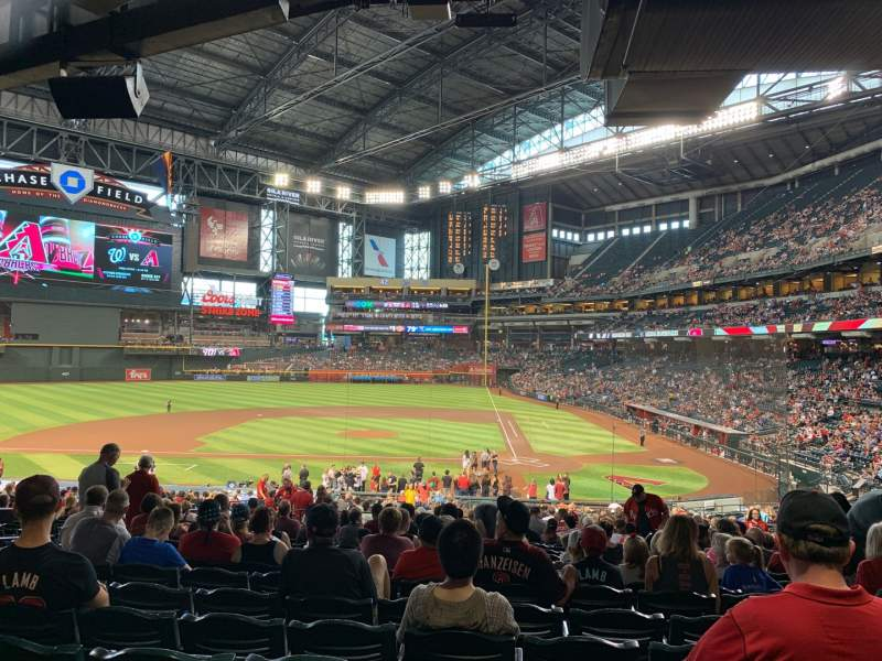 Seating view for Chase Field Section 126 Row 39 Seat 14