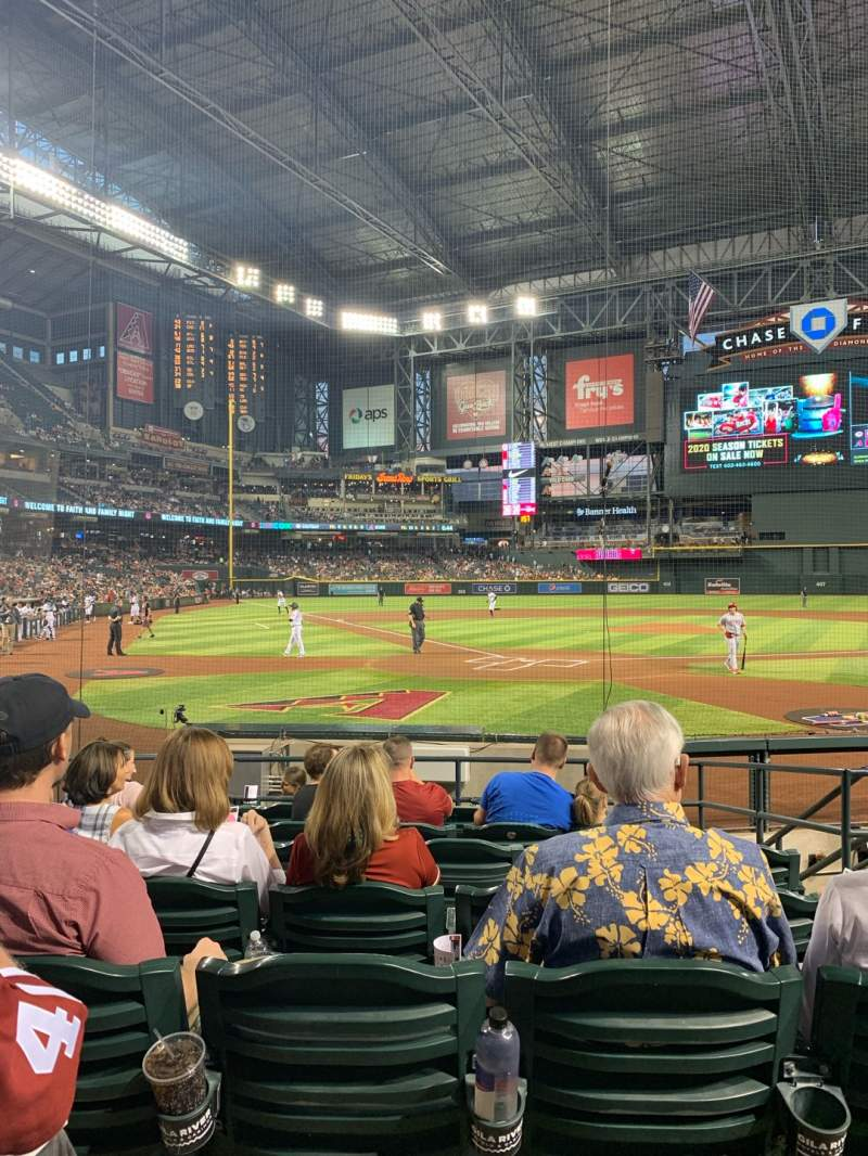 Seating view for Chase Field Section I Row G Seat 5