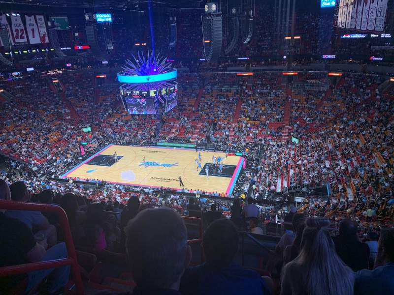 Seating view for American Airlines Arena Section 322 Row 13 Seat 19