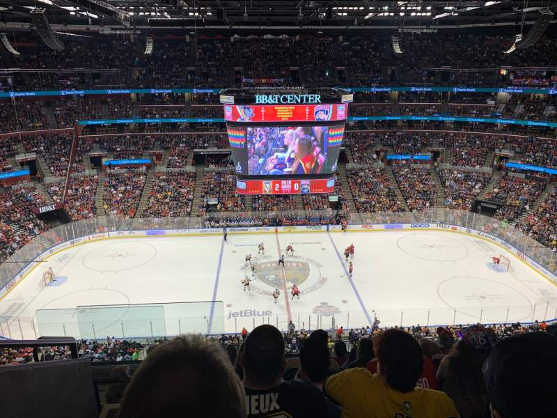 Seating view for BB&T Center Section 318 Row 7 Seat 18