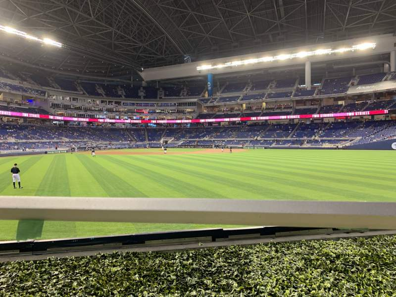 Seating view for LoanDepot Park Section 35 Row 1 Seat 2