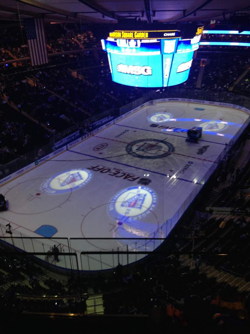Seating view for Madison Square Garden Section 321 Row 1
