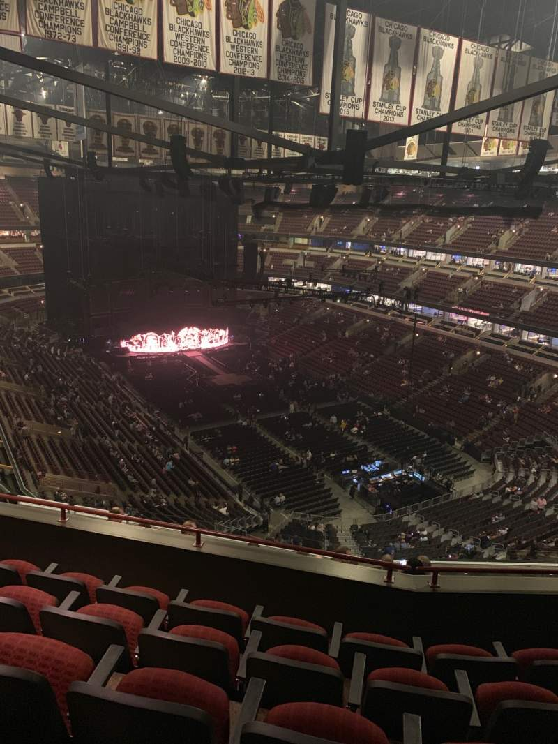 Seating view for United Center Section 312 Row 12 Seat 13