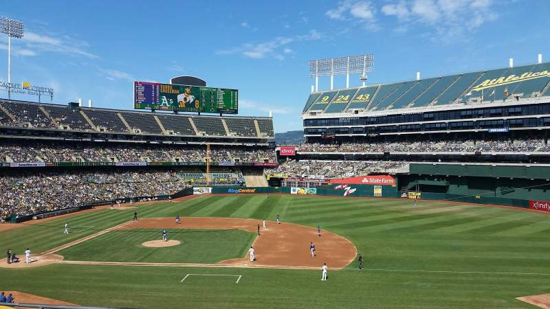 Seating view for Oakland Coliseum Section 211 Row 5 Seat 11