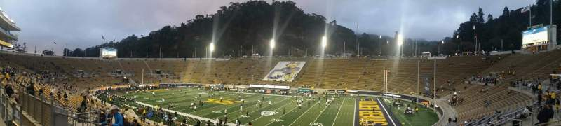 Seating view for California Memorial Stadium Section I Row 34 Seat 17