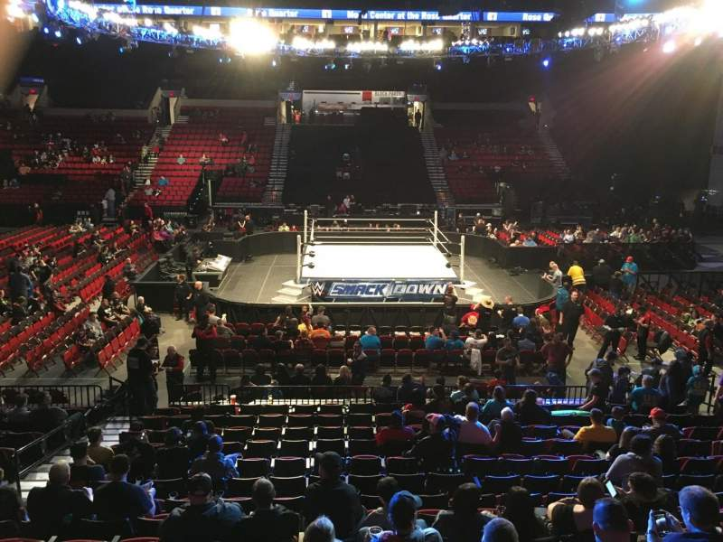 Moda Center Section 112 Row P Seat 14 Smackdown Shared