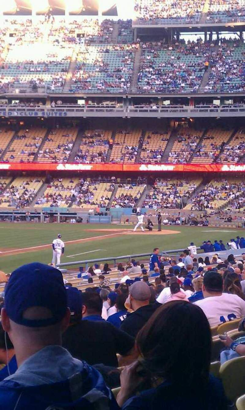 Seating view for Dodger Stadium Section 43fd Row s Seat 1-2
