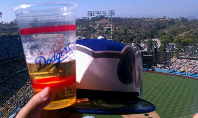 Seating view for Dodger Stadium Section 8 Row h Seat 16