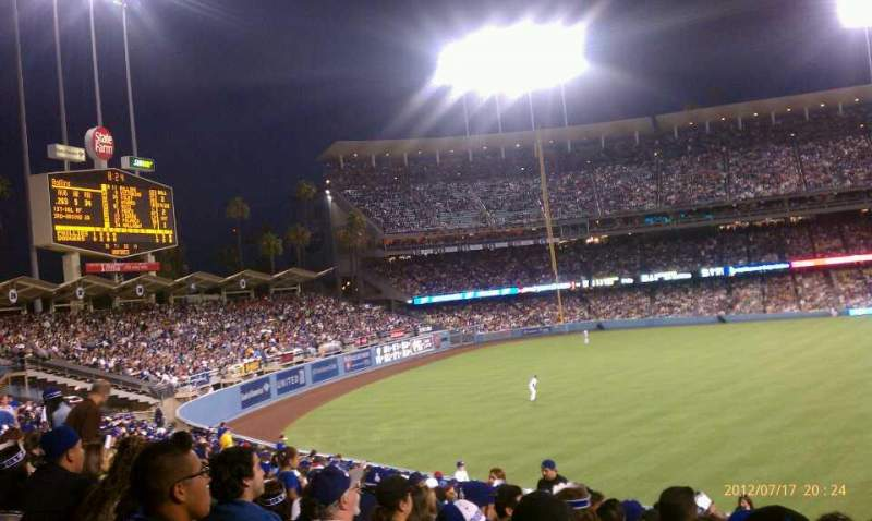 Seating view for Dodger Stadium Section 305PL Row v Seat 3-5