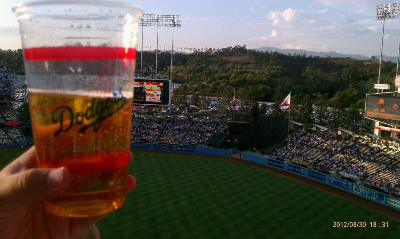 Seating view for Dodger Stadium Section 18RS Row AA Seat 14-17