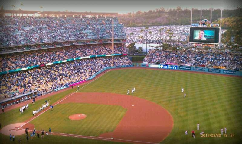 Seating view for Dodger Stadium Section 18RS Row AA