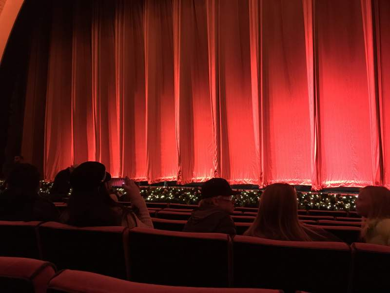 Seating view for Radio City Music Hall Section Orchestra 3 Row GG Seat 301-304
