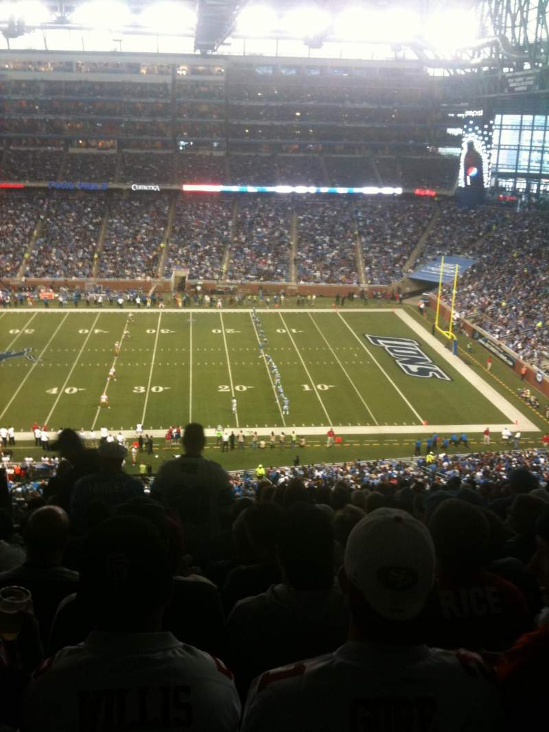Seating view for Ford Field Section 333 Row 18 Seat 4