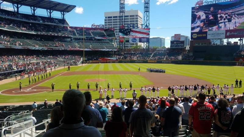 Seating view for SunTrust Park Section 122 Row 10 Seat 5