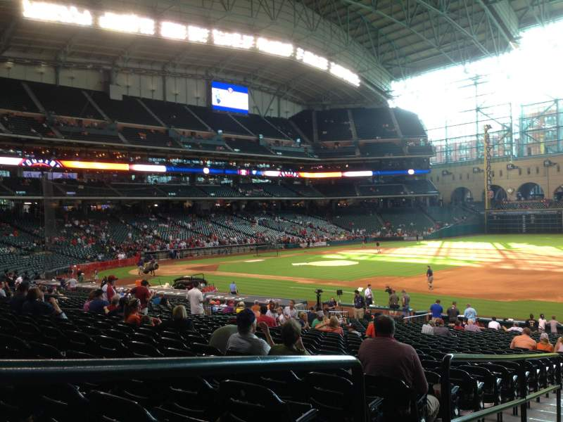 Seating view for Minute Maid Park Section 128 Row 31 Seat 1