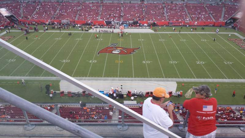Seating view for RAYMOND JAMES STADIUM Section 336 Row A Seat 2