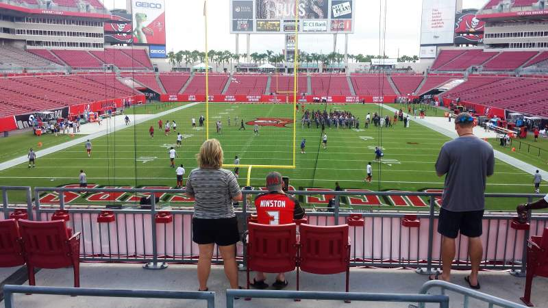 Seating view for RAYMOND JAMES STADIUM Section PIRATE SHIP Row PIRATE SHIP