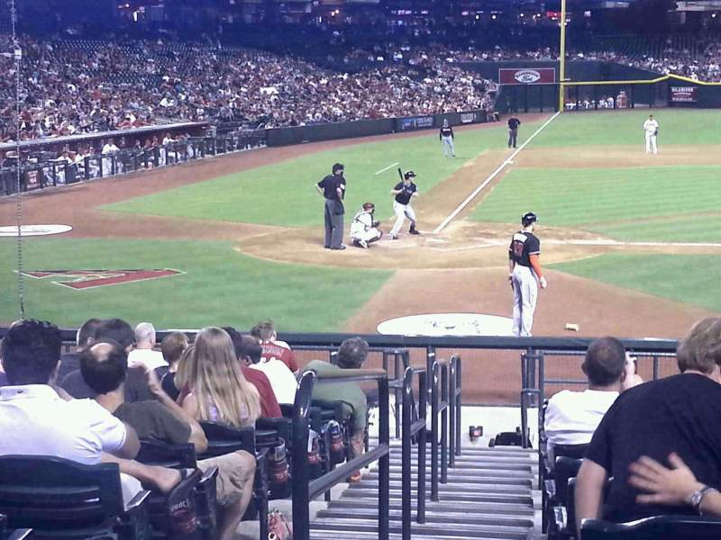 Seating view for Chase Field Section 118 Row 21 Seat 7