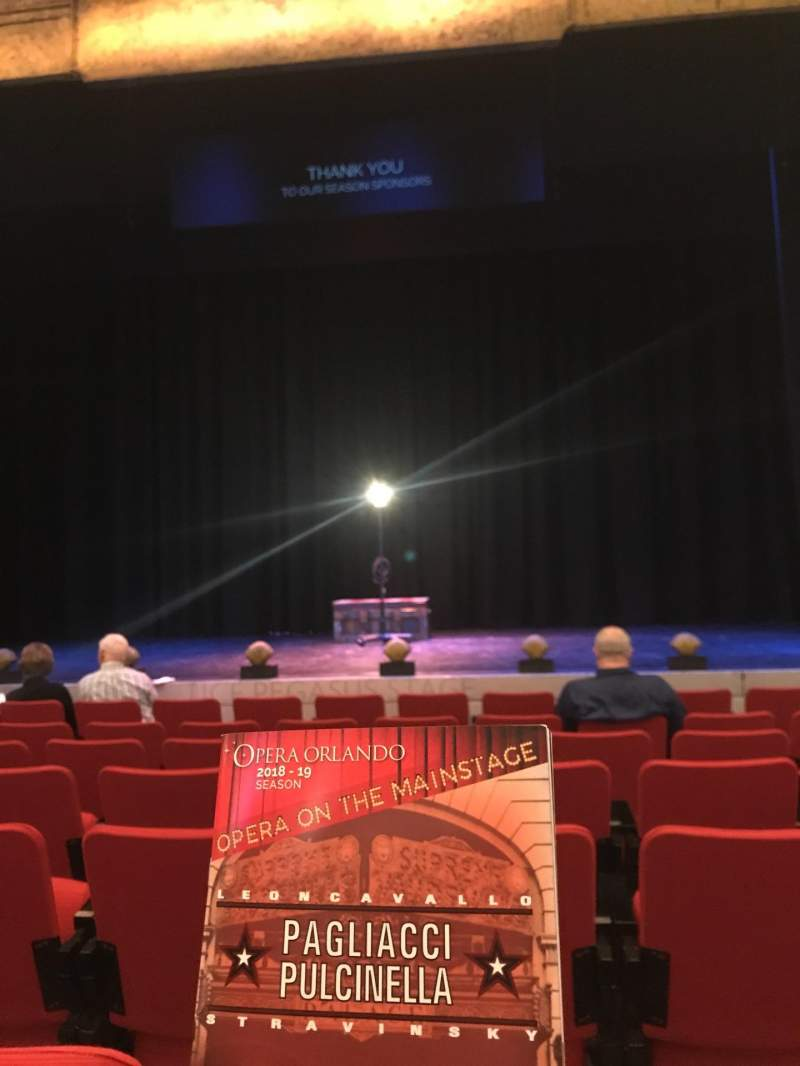 Seating view for Alexis & Jim Pugh Theater at the Dr. Phillips Center Section Main Floor Row G Seat 111