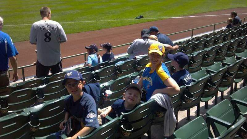 Seating view for Miller Park Section 110 Row 4 Seat 1,2,3,4,5