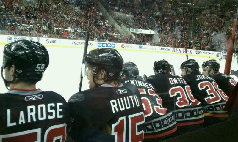 Seating view for PNC Arena Section 105 Row C Seat 3