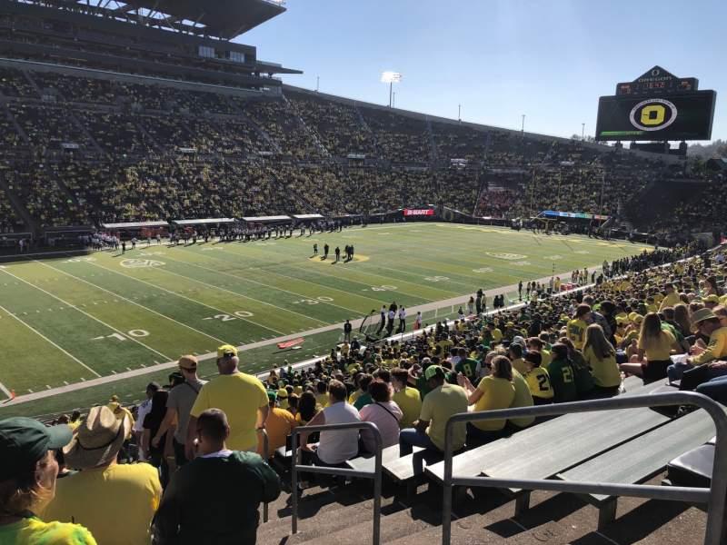 Seating view for Autzen Stadium Section 16 Row 42 Seat 1