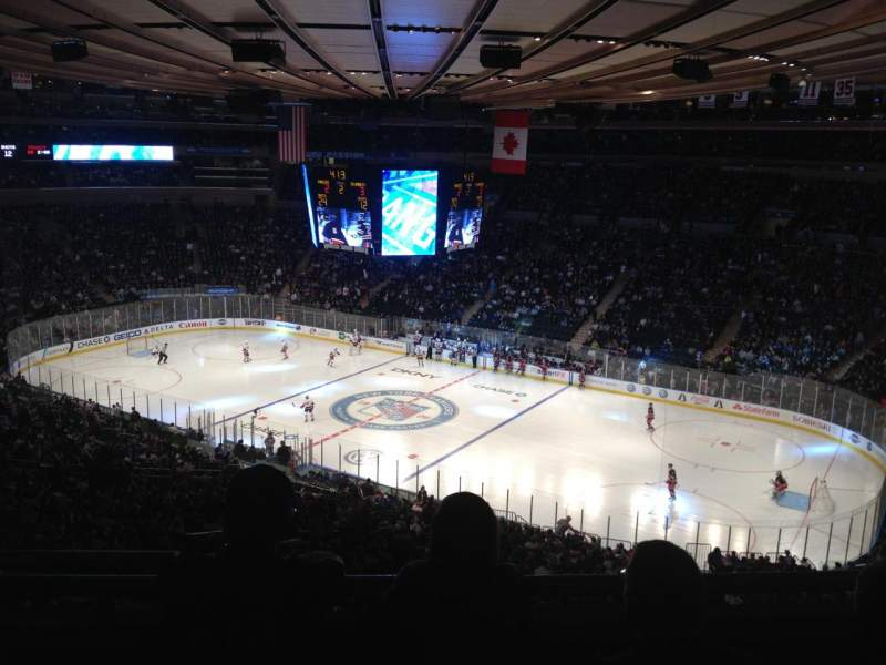 Madison Square Garden Section 402 Row C Seat 2 New York