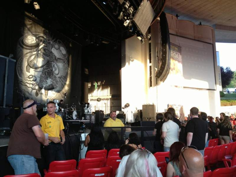 Seating view for PNC Bank Arts Center Section 104 Row G Seat 15