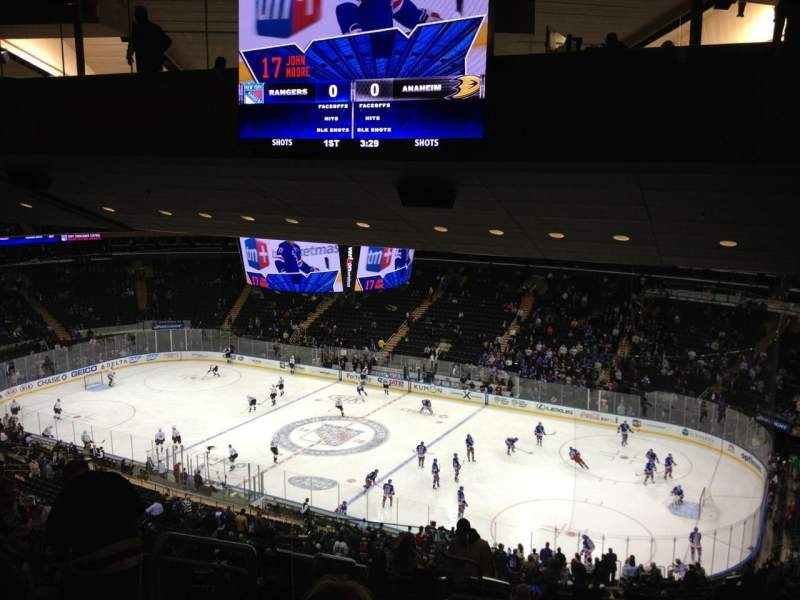 Madison Square Garden Section 227 Row 17 Seat 2 New York Rangers Vs Anaheim Ducks Shared