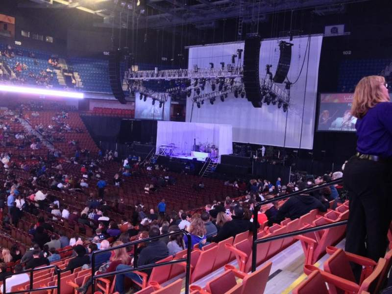 Seating view for Mohegan Sun Arena Section 17 Row R Seat 6
