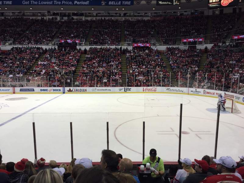 Seating view for Joe Louis Arena Section 120 Row 9 Seat 1