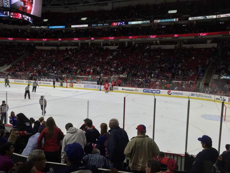 Seating view for PNC Arena Section 116 Row K Seat 1