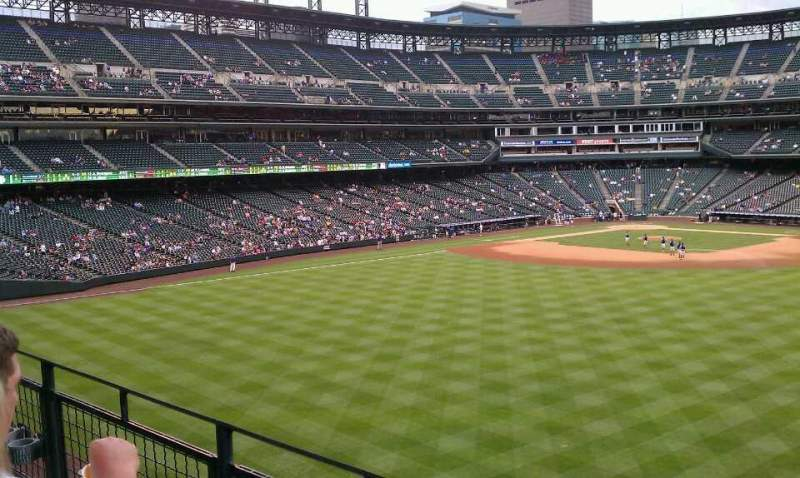 Seating view for Coors Field Section 202 Row 2 Seat 4