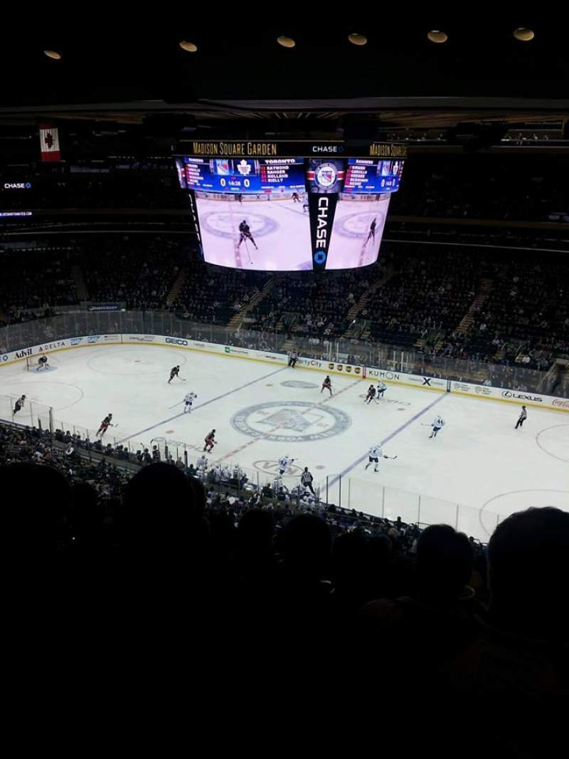 Madison Square Garden, section 210, home of New York ...
