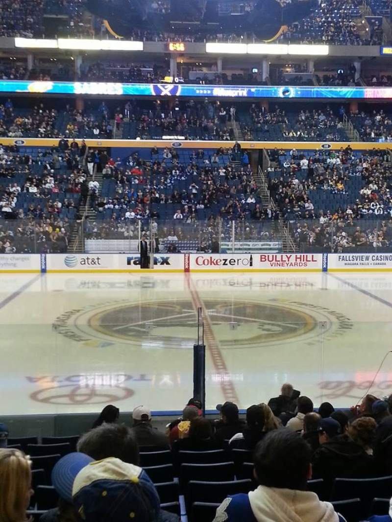Seating view for KeyBank Center Section 105 Row 7 Seat 14