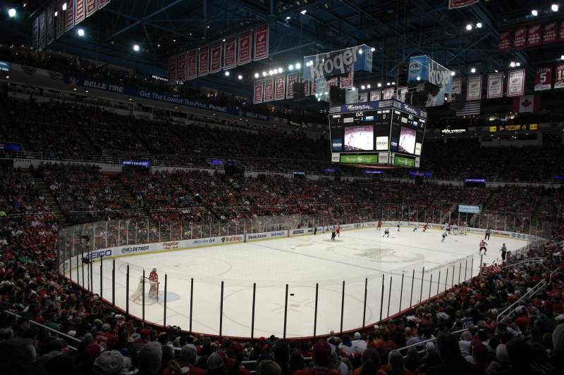Seating view for Joe Louis Arena Section 226 c standing room Row 1 Seat 1