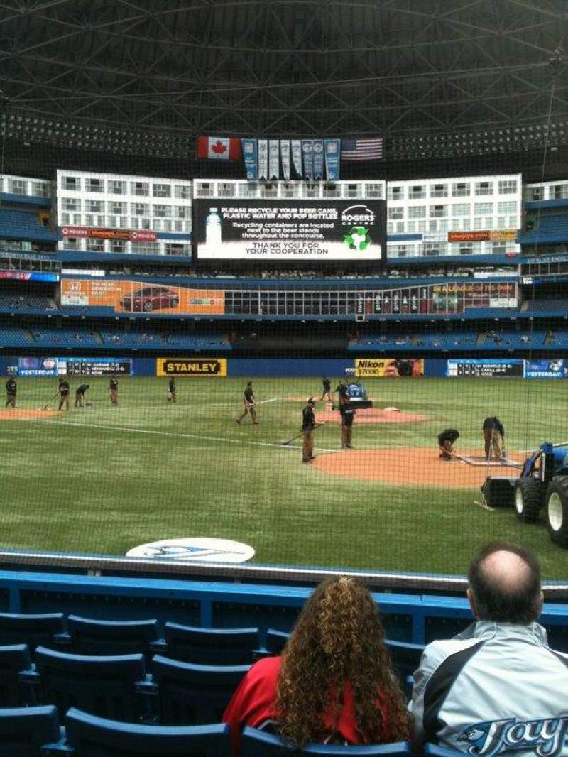 Seating view for Rogers Centre Section 123 Row 7 Seat 21
