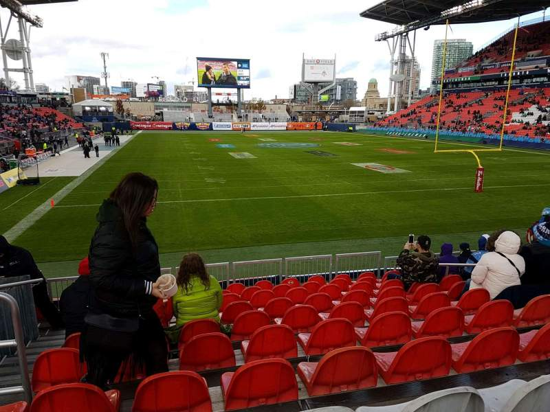 Seating view for BMO Field Section 116 Row 15 Seat 27