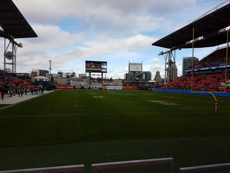 Seating view for BMO Field Section 116 Row 9 Seat 9