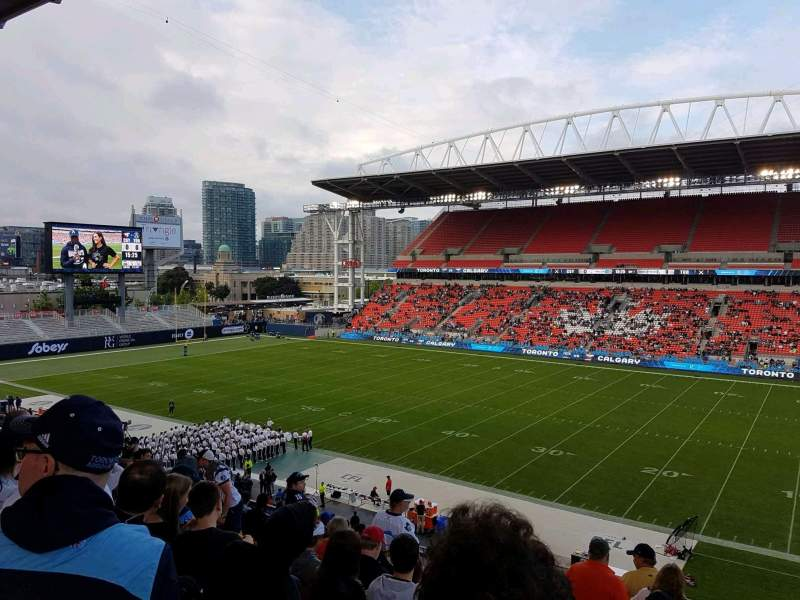 BMO Field, section: 221, row: 10, seat: 7
